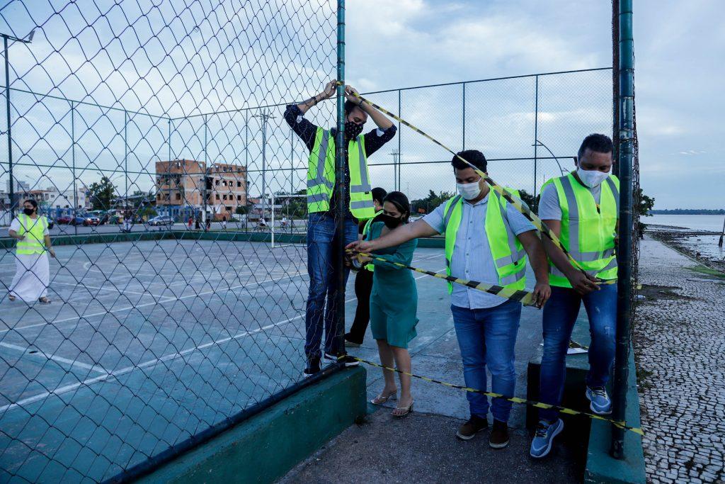 Quadras de esportes são interditadas para cumprimento do Decreto Metropolitano