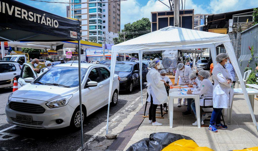 Postos de vacinação contra Covid-19 em Belém recebeu reforço nesta quinta-feira,