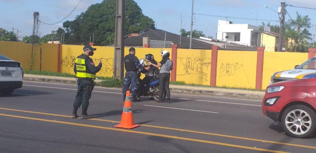 Barreiras de fiscalização foram montadas em quatro pontos de Belém pela GMB