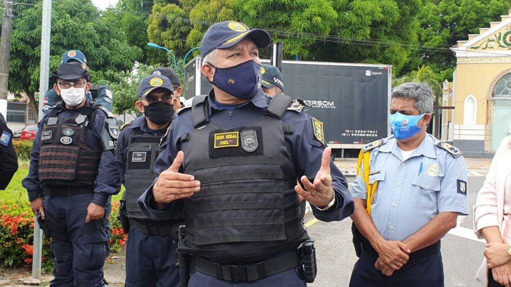 Inspetor geral da GMB, Joel Ribeiro, enfatiza a integração das forças de segurança em Mosqueiro