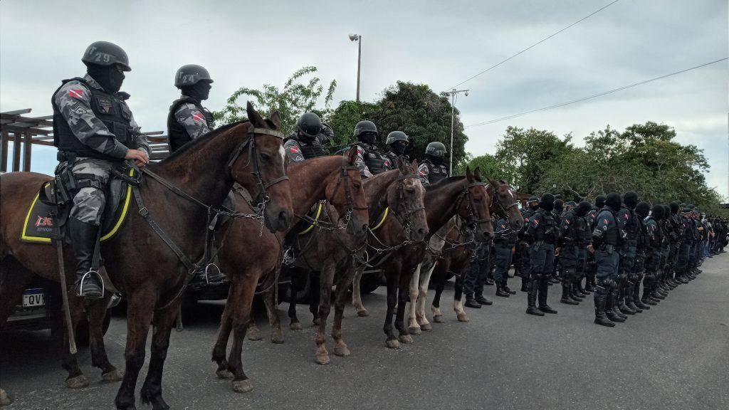 Agentes de segurança pública atuando em Mosqueiro