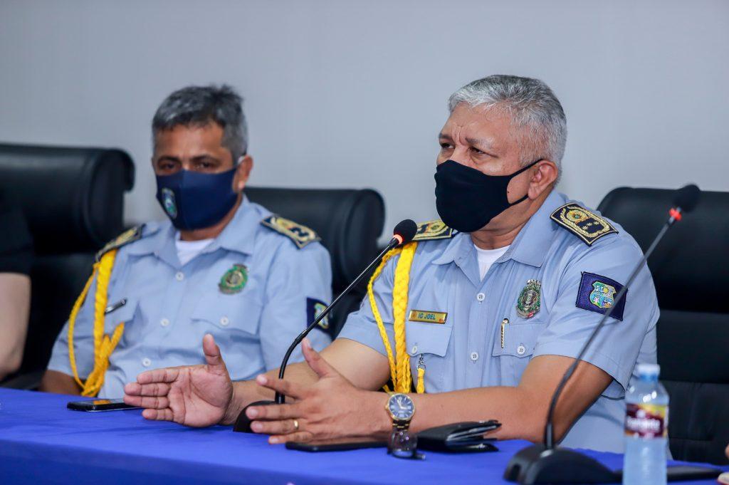 A abertura foi feita pelo inspetor geral da GMB, Joel Monteiro Ribeiro, no auditório da Delegacia Geral da Polícia Civil