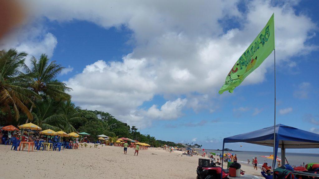 Praia do Farol: movimento de sábado, 17, foi tranquilo.